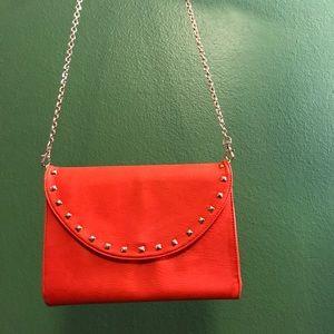 Vibrant Orange Crossbody Studded Bag